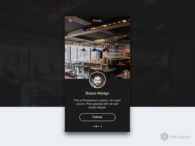 Hexagon iOS 8 Mobile UI Kit