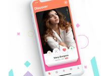 Swipe Card UI mobile for Dating App