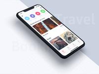 Home UI Concept for Travel App