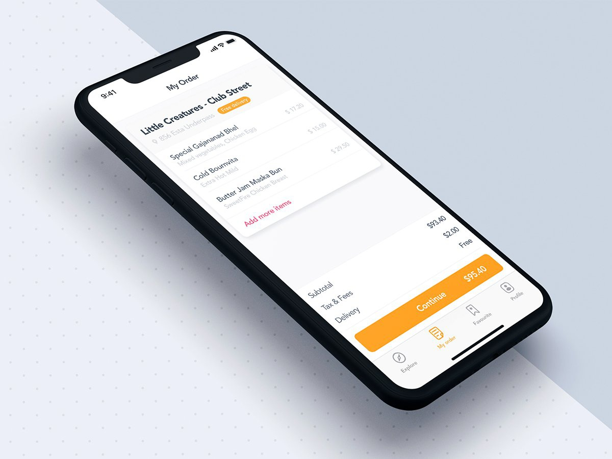 My order app template for Food mobile ui ui kit concept material uxui uikit ui grabfood uber delivery food