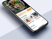 Restaurant details mobile app template