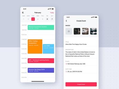 Event, Calendar - Social mobile app UI template