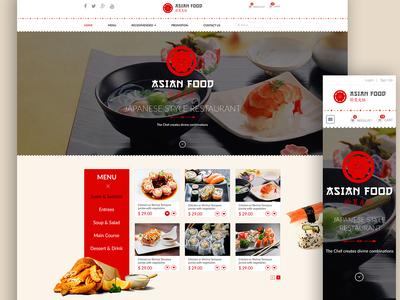 Restaurant Website Landing Page
