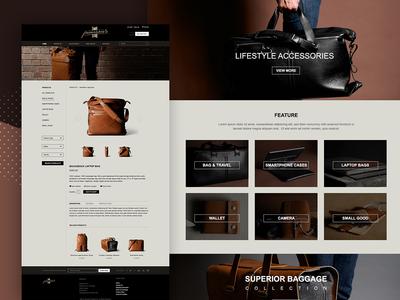 Shop Order Website Design Template