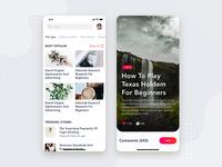 Social - Articles Mobile Interface Concept