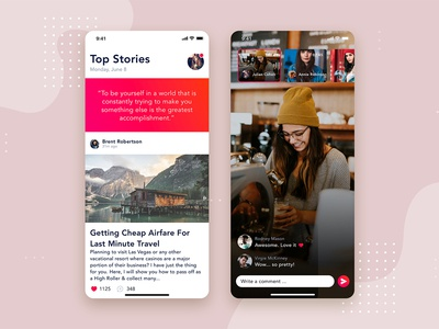 Social - Articles Mobile Interface Concept