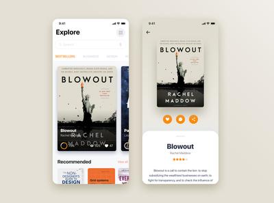 Book Store mobile app concept