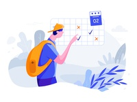 Plan a Trip - Illustration concept for Travel App