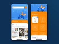 Delivery Service mobile app concept