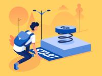 Startup Business illustration concept