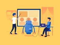 Machine Learning Illustration Concept