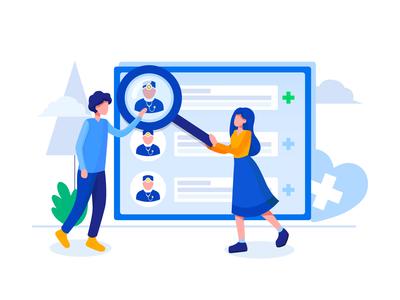 Find a Doctor Illustration concept