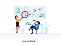 Financial Research Vector Illustration