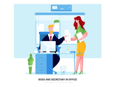 Boss and Secretary in Office