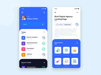 Task Management Mobile App UI Kit Template
