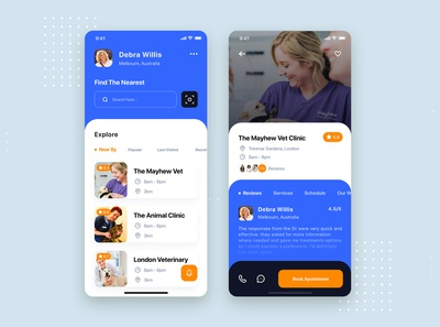 Pet Clinic Mobile App UI Template