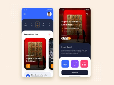 Event Ticket Mobile App UI Kit Template