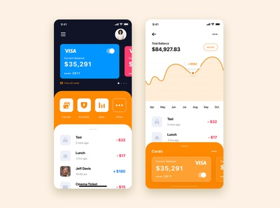 Mobile Wallet App UI Kit Template
