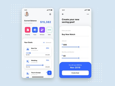 Expense Tracker Mobile App UI Template