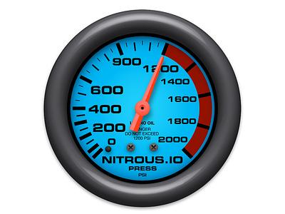 Nitrous.IO Icon nitrousio nitrous icon mac gauge round