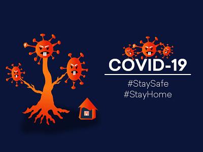 Stay Home Stay Safe corona virus covid-19 uiuxdesign design art vector ui motion design covid19 caracter illustration web animation art
