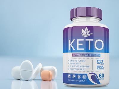 SUPPLEMENT LABEL(KETO) box design premium clean cbd oil supplement design premium design packaging design labeldesign label design