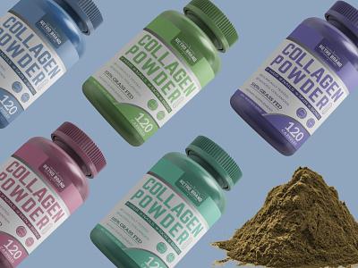 Supplement Label clean cbd oil illustration premium supplement design premium design packaging design labeldesign label design