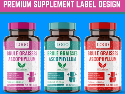 Supplement Label Design illustration minimalist premium cbd oil design labeldesign label design premium design supplement packaging design