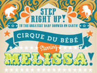 Circus-themed baby shower invite