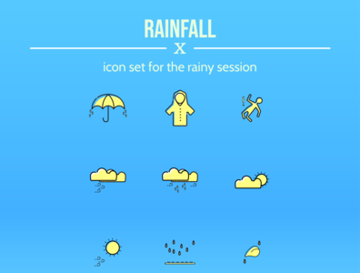 First Icon Set for rainy season