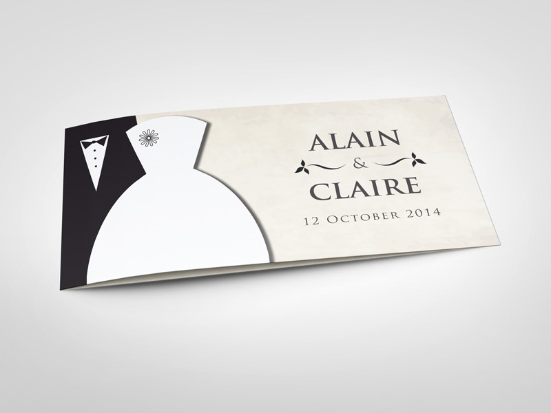 Wedding invitation card v3 by idesignstudio dribbble stopboris Choice Image