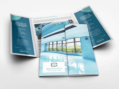 A Gatefold Brochure Mockup By Idesignstudio  Dribbble