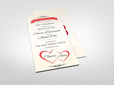 Wedding Invitation Card V7