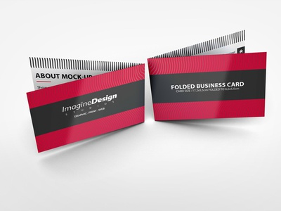 business cards folded