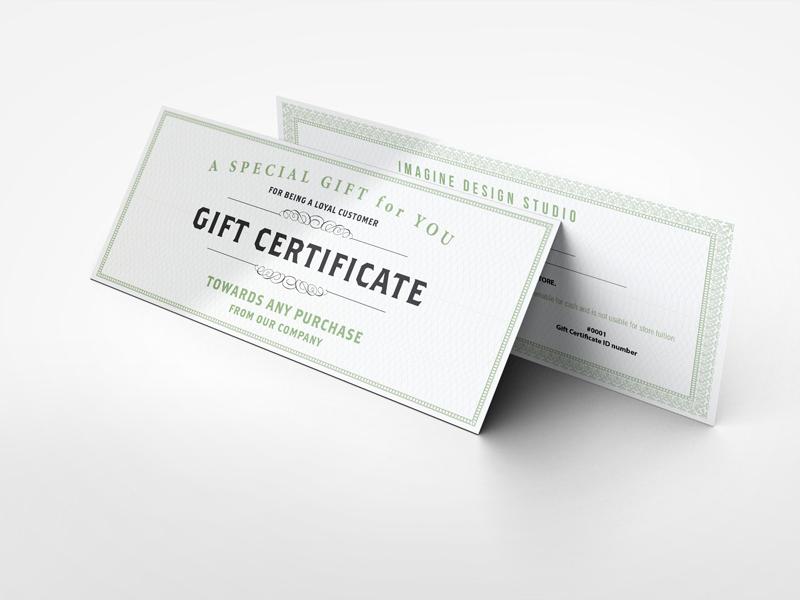 gift certificate mockup by idesignstudio dribbble