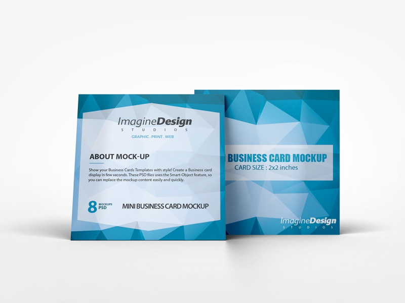 Mini business card mockup by idesignstudio dribbble cheaphphosting Choice Image