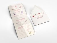 Accordion Wedding Invitation Mock-up