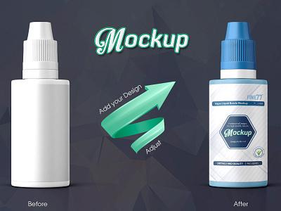 Vape Liquid Bottle Mockup vape e-liquid mock-up packaging package mockup drops flavour flavor eye drops dropper bottle