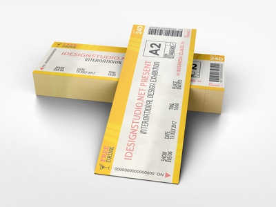 Ticket Mockup mockup event ticket event entry coupon concert tickets concert cinema admit ticket mockup ticket