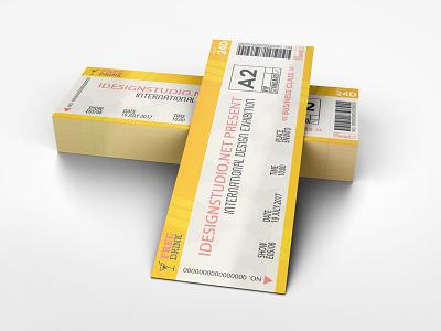 Ticket Mockup mockup event ticket event entry coupon concert tickets concert cinema admit ticket mockup ticket