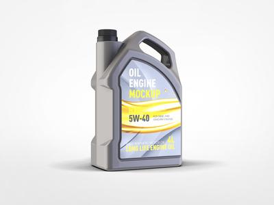 Motor Oil Gallon Mock-up synthetic package oil package oil motor oil mockup mock-up gasoline engine oil diesel car bottle