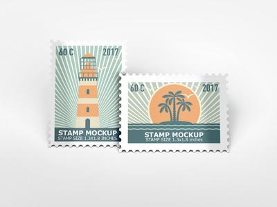 Stamps Mockup stamps mock-up stamp showcase psd professional poste postal stamp postal postage stamps mockup mail envelope