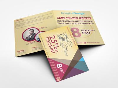 Card Holder Mockup V1 vip mockup key hotel holder gift folder discount credit club client card