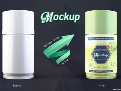 Spray Can Mockup aluminum insecticide graffiti paint pet clean scent atomizer freshener aerosol small tin air compressed cleaner spray mockup mock-up can bottle