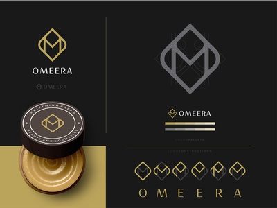 omeera logo companylogo company logos monogramlogo monogram woman beauty cosmeticlogo cosmetic