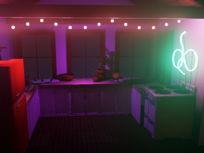 Tiny Kitchen unreal engine 3d