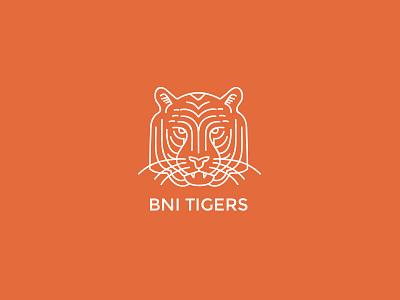 Bni Tigers Branding branding logo tiger orange business networking design outline