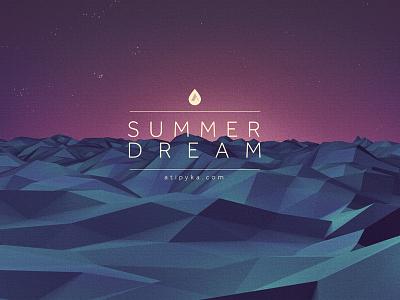 summer Dream c4d landscape sea lowpoly summer dream illustration