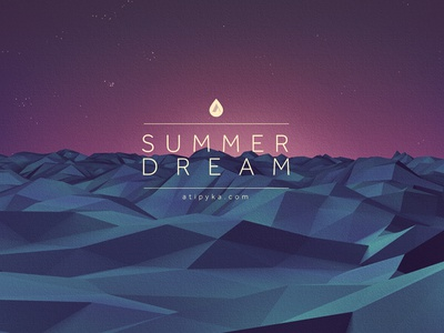 summer Dream c4d landscape sea lowpoly summer dream illustration