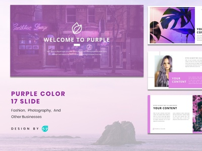 Powerpoint Template - Purple Themes presentation template presentation presentation design design graphicdesign branding
